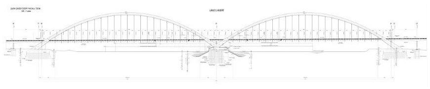 przekrój mostu głównego